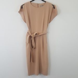 Asos rose Belted Dress with Split Cap Sleeve 4